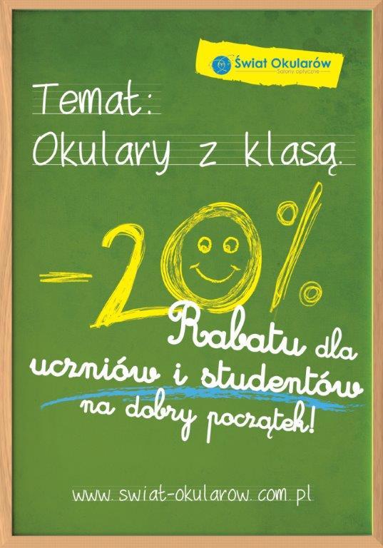 plakat optyk na rozpoczęcie szkoły